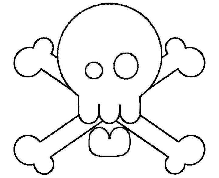 printable skull and crossbones for pirate hatCrossbones Templates ...