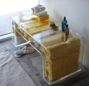acrylic furniture. this aaron thomas lucite lux tablebench beauty and function acrylic furniture