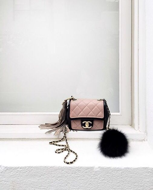Chanel mini flap bag.
