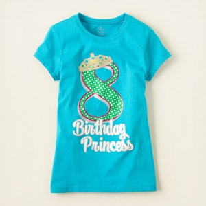 Birthday tee's at Children's Place...online only...love them!!: Birthday Tees