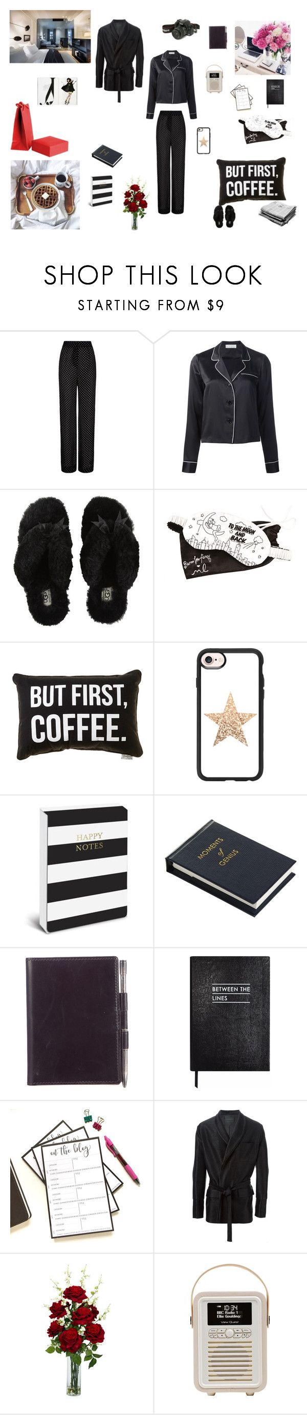 """""""hotel room"""" by favos ❤ liked on Polyvore featuring Agent Provocateur, Fleur du Mal, UGG Australia, Morgan Lane, Casetify, Sloane Stationery, Hermès, La Perla and Nearly Natural"""