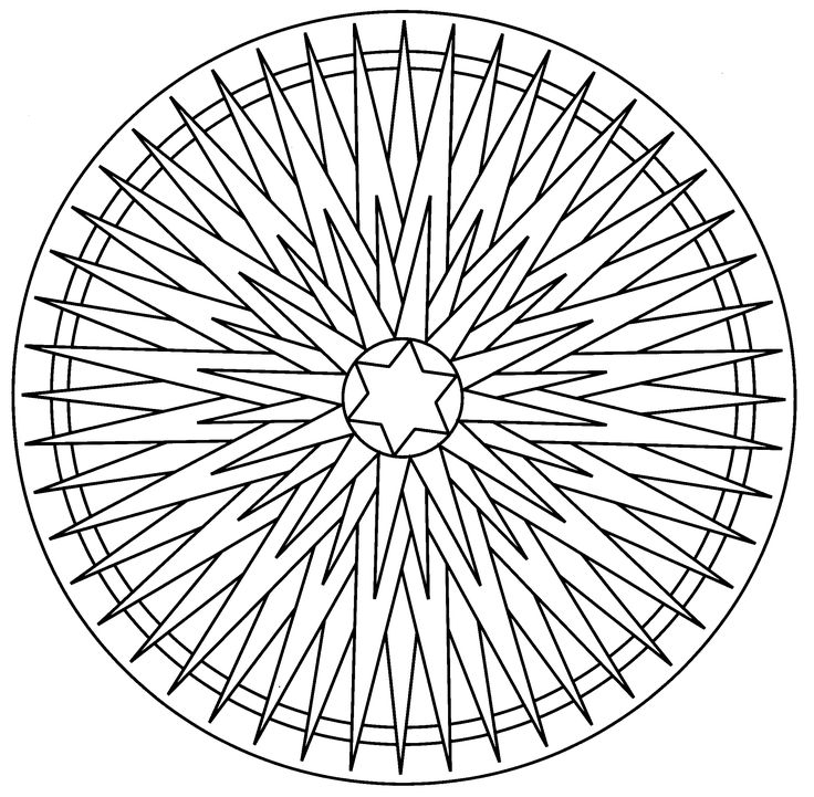 Mandala Christmas Ornaments Coloring Pages 042