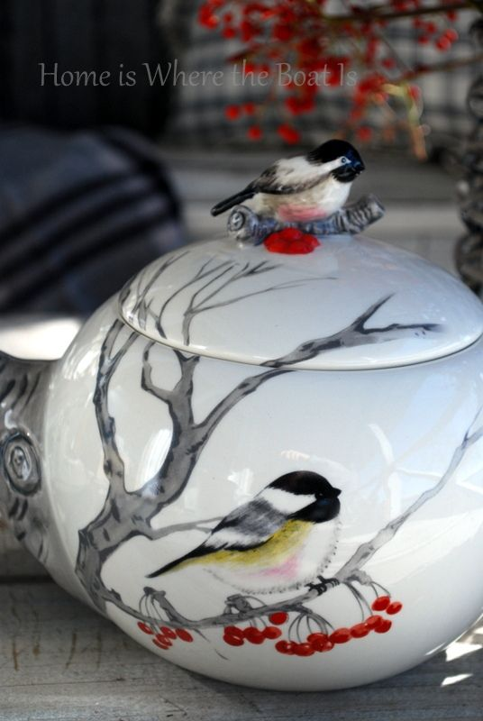 Sweetest Chickadee Teapot!