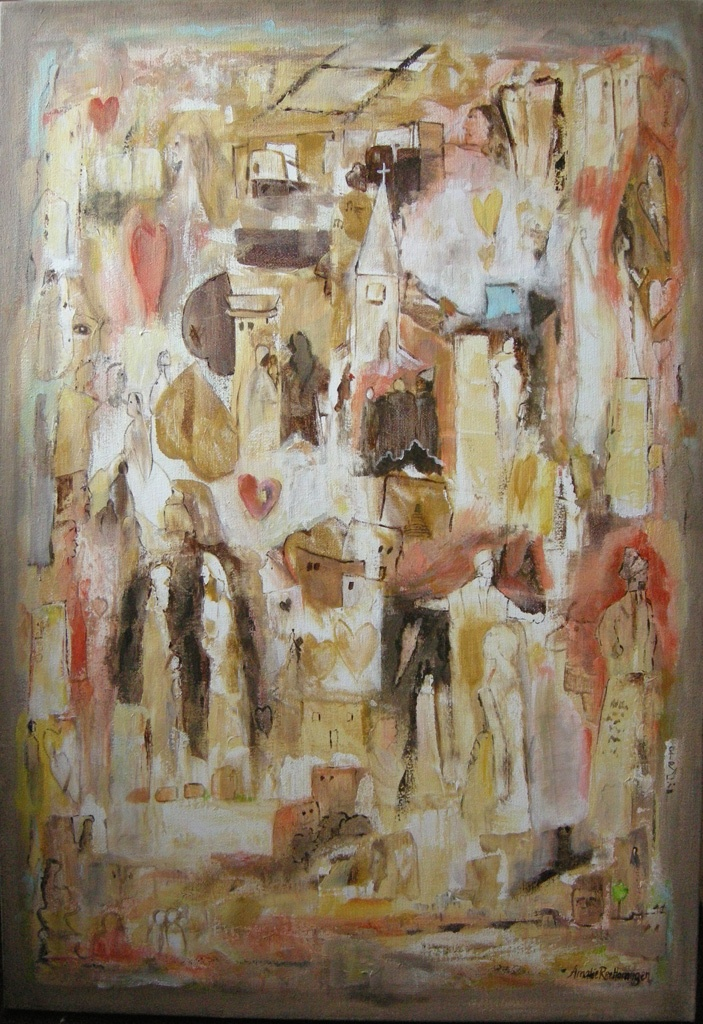 I gode og onde dager (in good and bad) | painting - Amalie Ree
