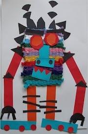 robot kids craft collage