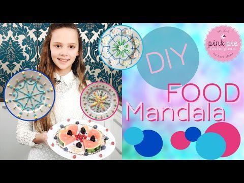 DIY your own FOOD MANDALA | Pink Pie Factory | Lara-Marie | Sprinkles, Candies, Fruits & Edible Glue - YouTube
