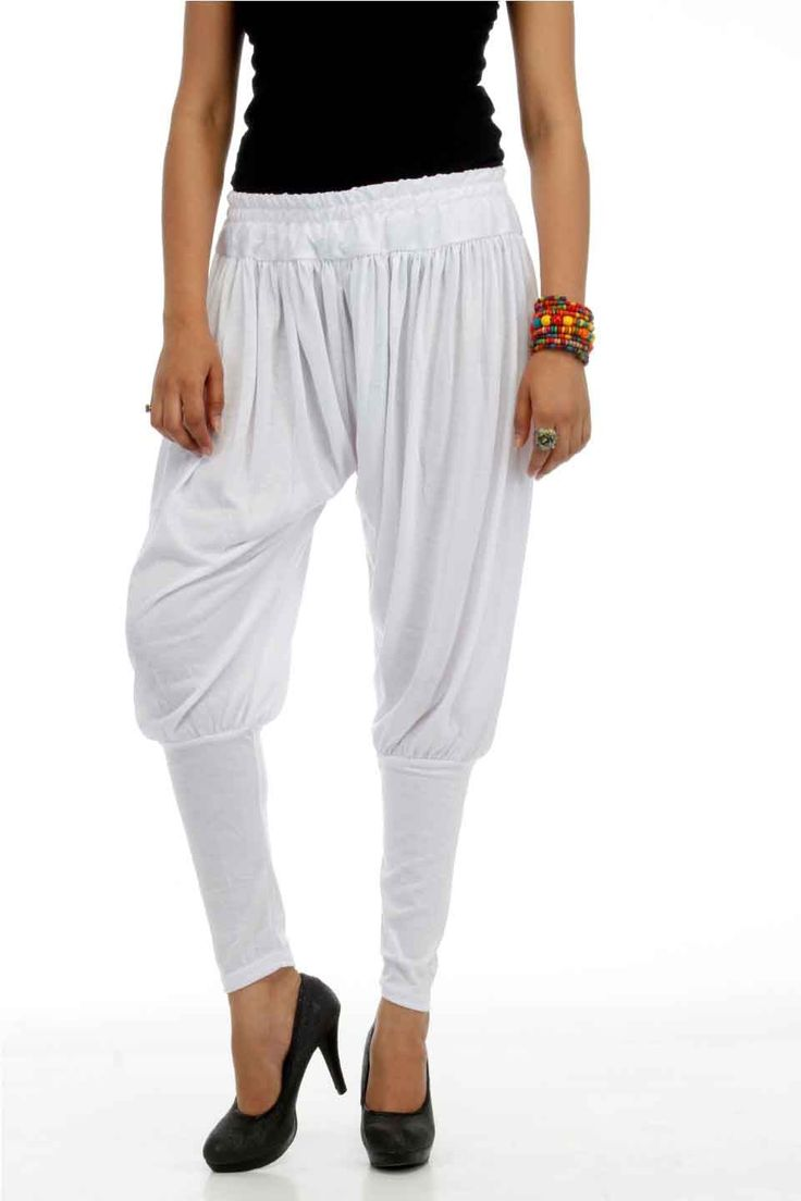 Adam n' eve White Jodhpuri Cotton Salwar @ Rs.399 only