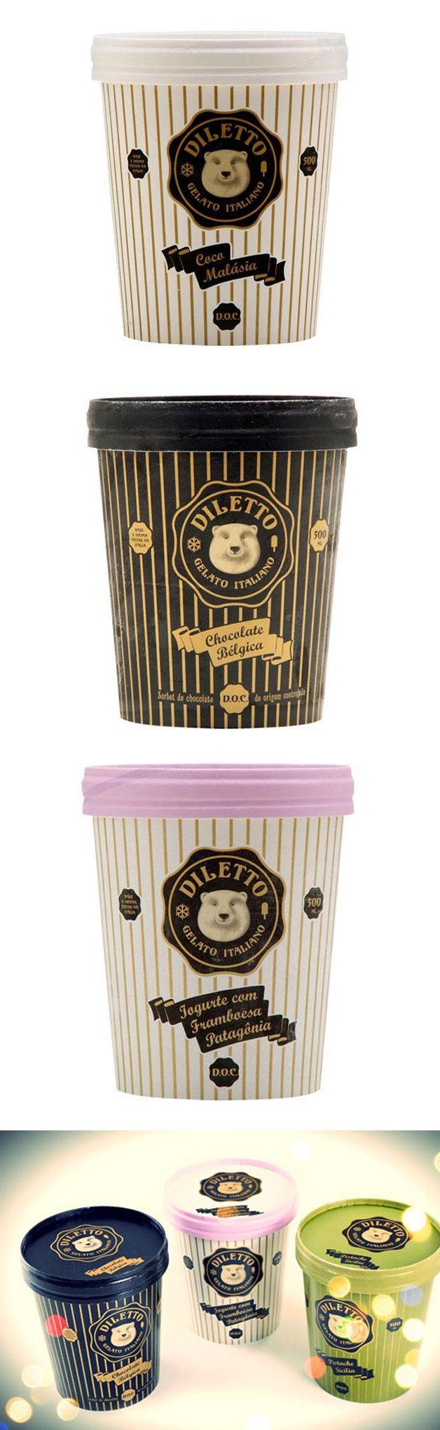 Package made for Diletto - a Brazillian premium Ice Cream Brand