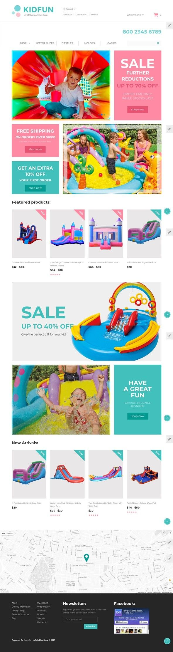 KidFun - Kids Toys & Games Store OpenCart Template E-commerce Templates, OpenCart Templates, Home & Family, Family Templates, Kids & Children, Baby Store Templates KidFun is a well-documented Children's Toys OpenCart Template custom made for children's inflatable toys and games stores. Showcase your products in a pro way with a gallery slider. Use the ...