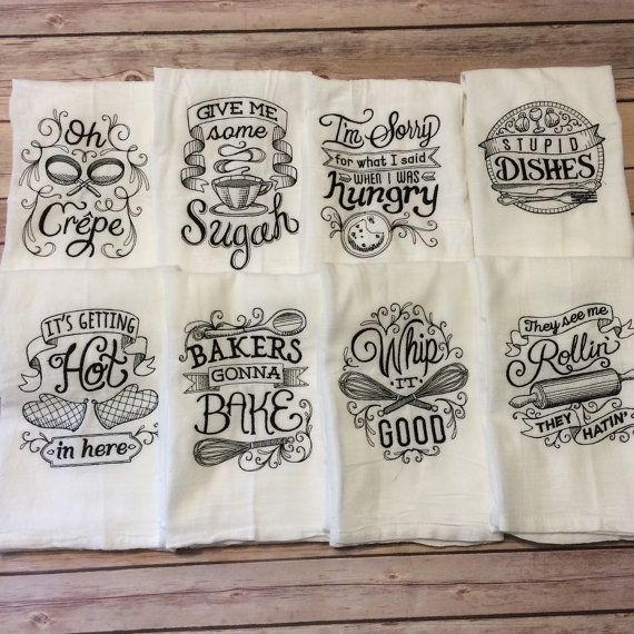 Choose any TWO embroidered flour sack towels by ShopBowAndSparrow