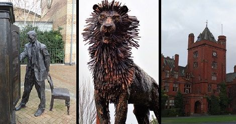 """See the Narnia author's childhood home, """"The Searcher"""" statue, and the new C.S. Lewis Square along the C.S. Lewis Trail in Belfast, Northern Ireland."""