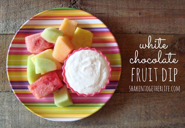 White Chocolate Fruit Dip-YUM!