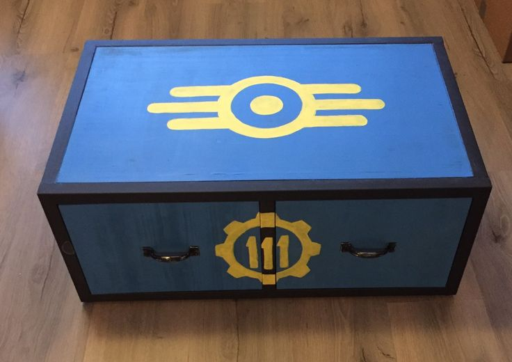 Made a Fallout 4 sidetable for my husband <3 (x-post r/gaming) http://ift.tt/2guv47E . how to make your own #crafts follow @cutephonecases