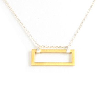 Silver & Gold Modern Rectangle NecklaceRectangle Necklaces, Bangles Baubles, Necklaces Wide, Jewelry Inspiration, Fab Com, Design Jewelry, Jewelry Ideas, Boxes Necklaces, Wide Rectangle