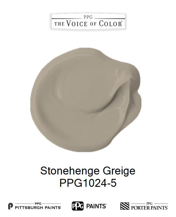 Stonehenge Greige is a part of the Beiges collection by PPG Voice of Color®. Browse this paint color and more collections for more paint color inspiration. Get this paint color tinted in PPG PITTSBURGH PAINTS®, PPG PORTER PAINTS® & or PPG PAINTS™ products.