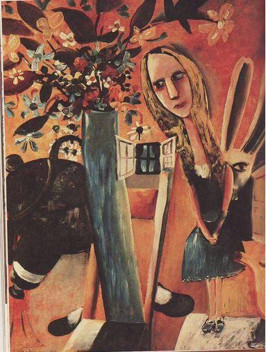 'Alice series' by Charles Blackman, Australian artist, 1957.