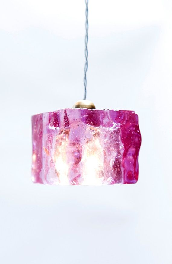 Purple Ceiling Pendant Light Cube / HandMade / Purple  by #AyaandJohn Aya and John create outstanding light fixtures, that are produced by expert designers and artisans. For product information email info@ayaandjohn.comEpoxy Light Cube