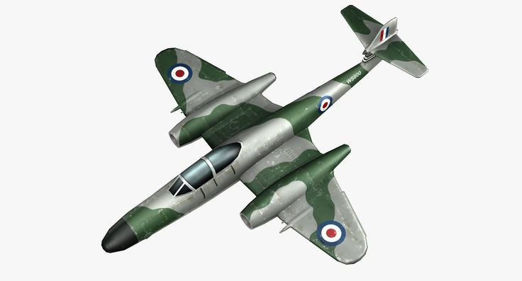 3D Model Gloster Meteor Fighters Jet Aircraft - 3D Model