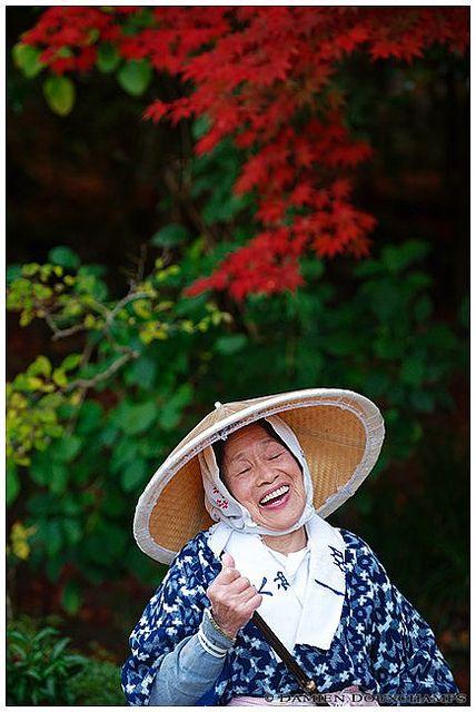 Laughing gardener - Kyoto, Japan (Shisen-do 詩仙堂)