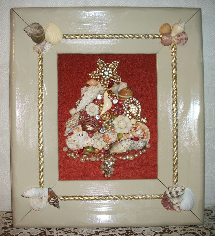 201 best Vintage Jewelry Framed Christmas Tree images on Pinterest ...
