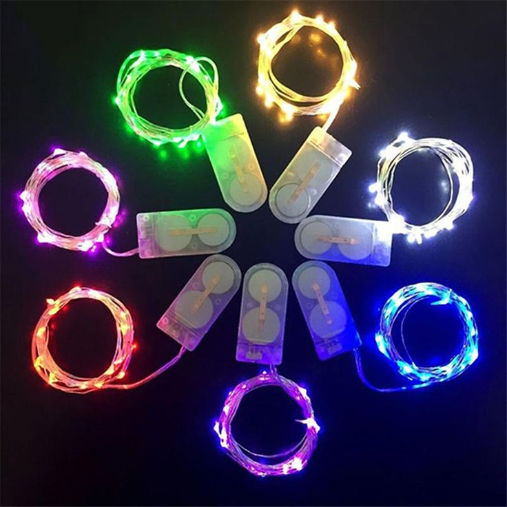 Fairy String Lights 2M 20-Leds Copper Wire CR2032 Battery Powered Fairy Rope Light For Home Party Wedding Decoration (Red)