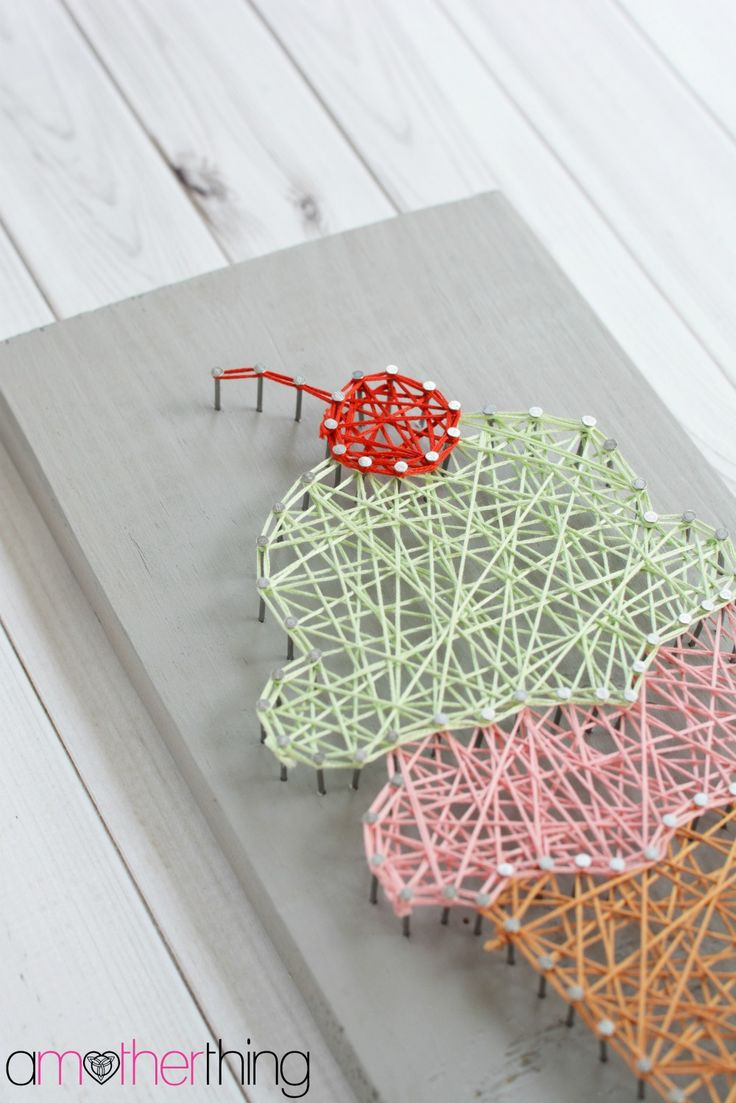 DIY String Art Ice Cream Cone With Template