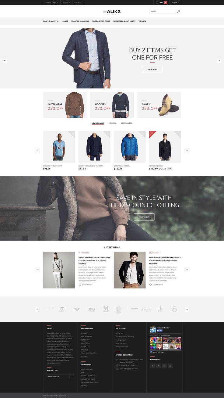 116 best #PrestaShop eCommerce #Responsive Premium Templates ...