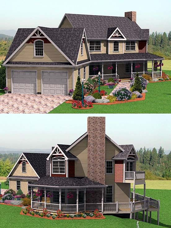 Victorian House Plan chp-5613 at COOLhouseplans.com