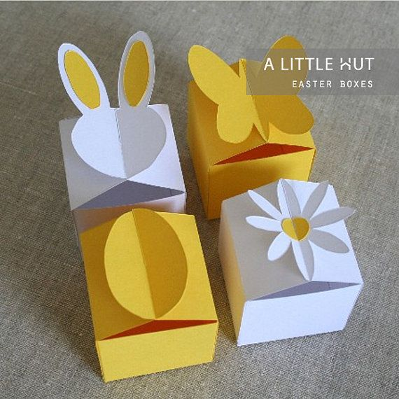 Easter boxes  SVG DXF & PDF files by ALittleHut on Etsy
