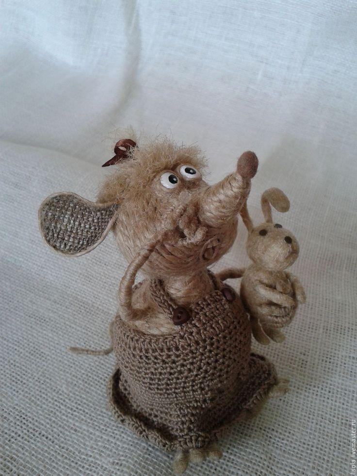 Купить Оби-и-идели... - серый, игрушка мышка, плачущая мышка, иинтрьерная…