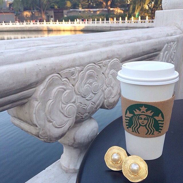 Evening coffee with these yummy vintage Nina Ricci pearl studs