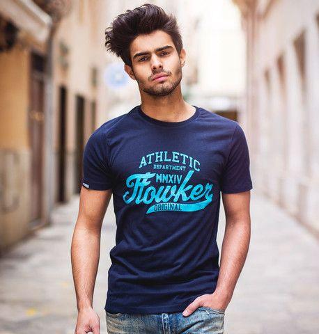 camiseta chico flowker original marino 1