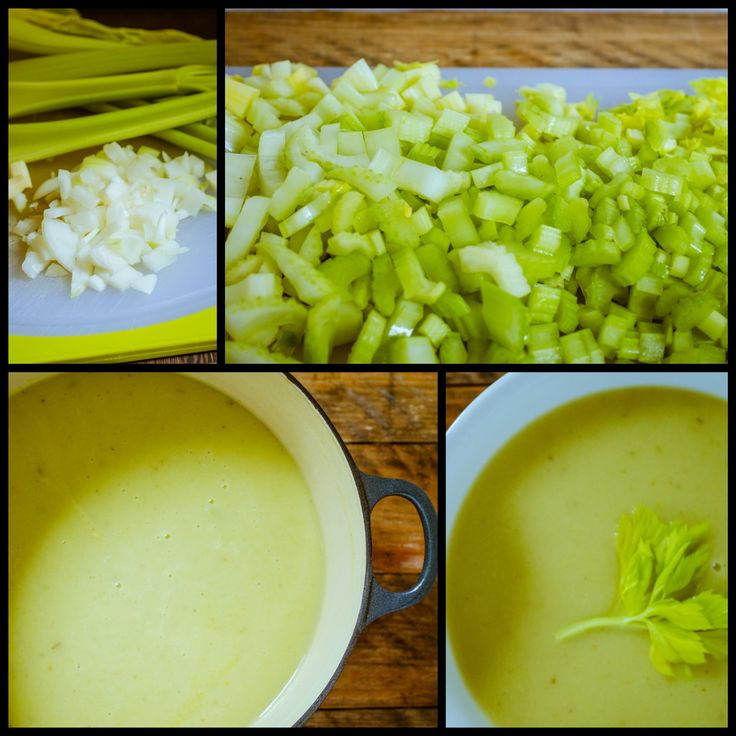 Simple Celery Soup 5 ingredients plus seasoning, super easy and tasty! I had a rutabaga on hand so I used that in place of a potato and I think it turned out great!