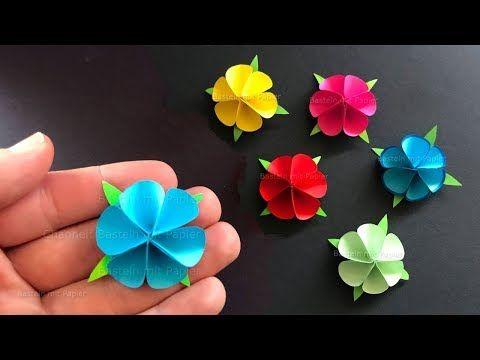Basteln mit Papier: Blume als Geschenk selber mach…