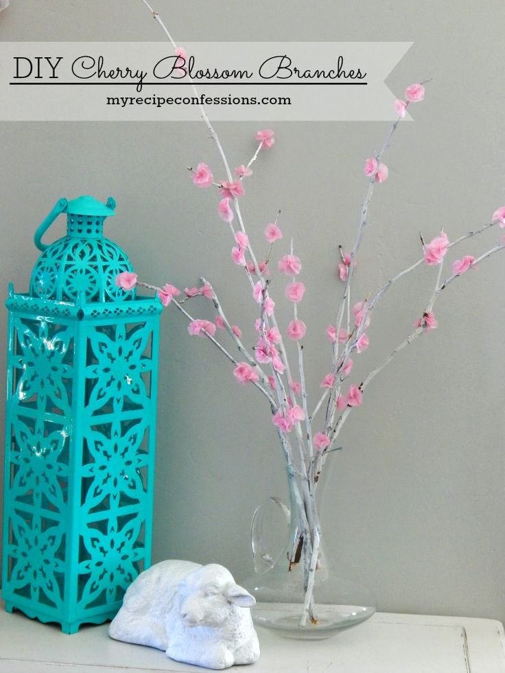 Bring a little of the spring season indoors with these easy DIY Cherry Blossom.