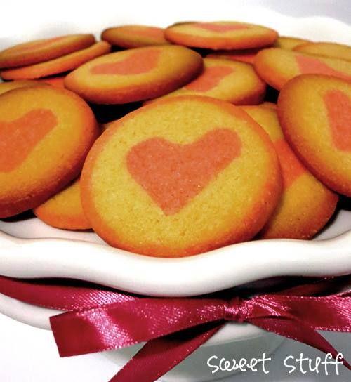 Hidden Surprise Cookies - Heart  #hiddensuprise #heartcookies #sweetstuff