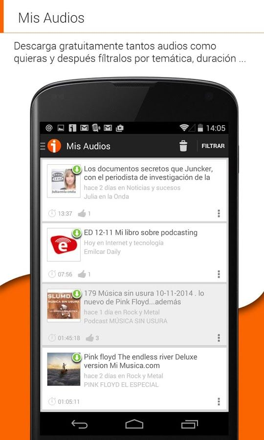 Tu Android apps Info: iVoox Podcast