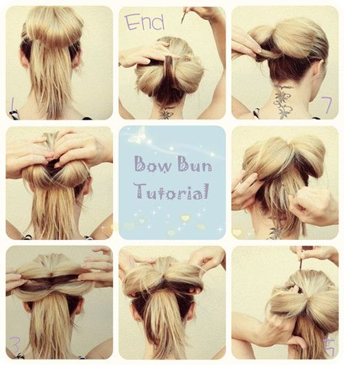 bow bun hairstyle tutorial