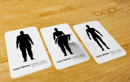 Personal Trainer Business Card  Creative business cards show the results that you will get if you decide to train with Levin Tahmaz.