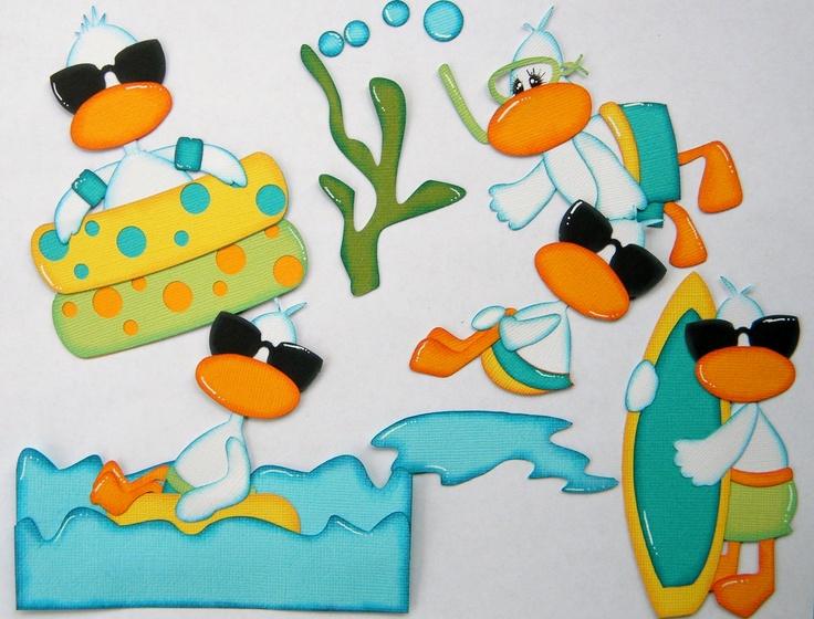 Beach Ducks (Scrapbook Paper Piecings)