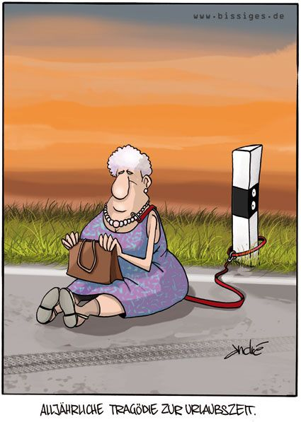 Cartoon Karikatur Tragödie Aussetzen