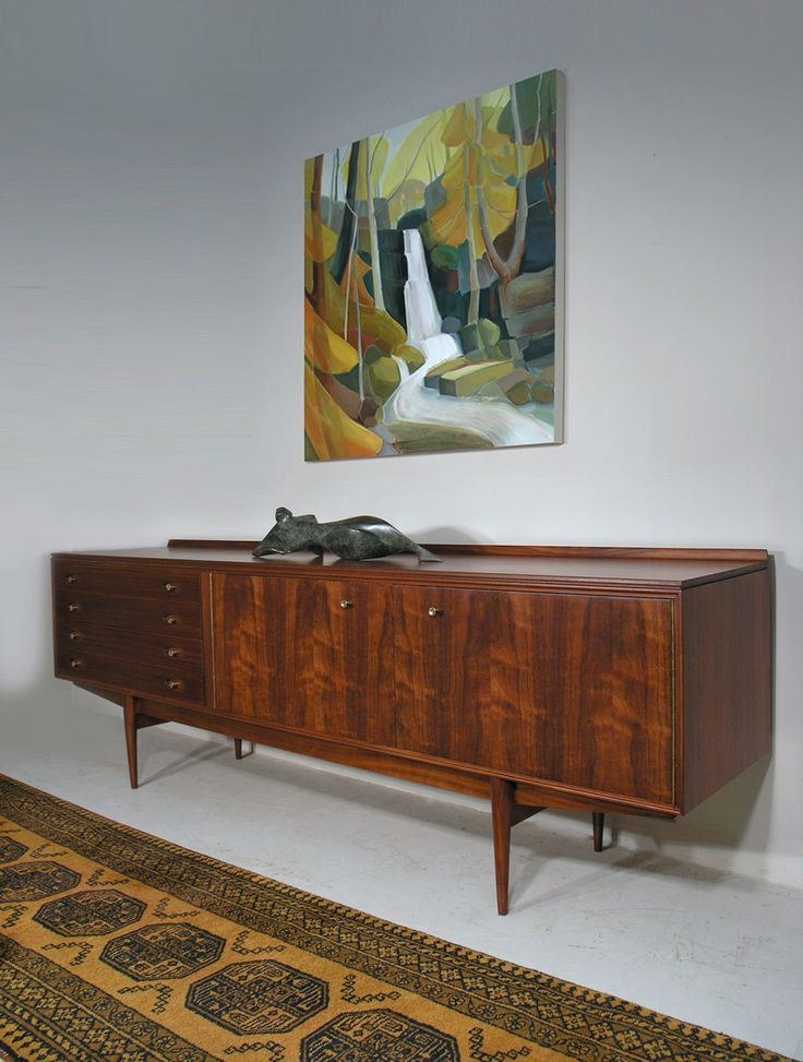 Robert Heritage Hamilton sideboard - painting 'Lumsdale' by Lindsey Hambleton