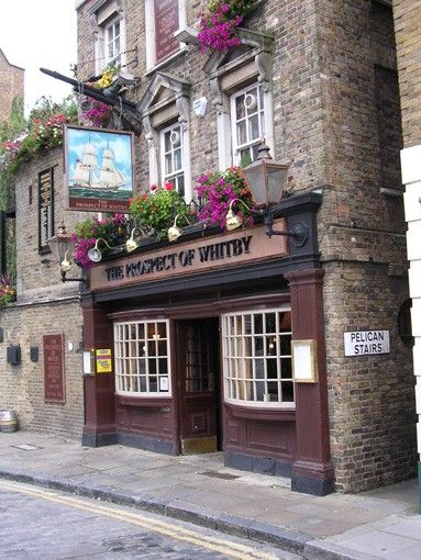 The Prospect of Whitby, a historic public house on the banks of the Thames at Wapping in the London Borough of Tower Hamlets http://www.photoblog.com/Robertthebob/2007/09/08/bye-bye-wapping-and-accidentally-more-grey-photos.html