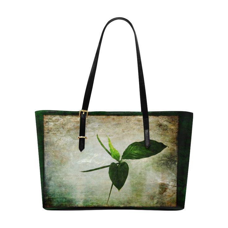 All Green Euramerican Tote Bag/Large (Model 1656)