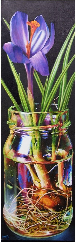 Hocus Crocus, acrylic, (92x30cm) by Meg Burkill. Hornsea Art Society runners-up in Art Club of the Year 2017