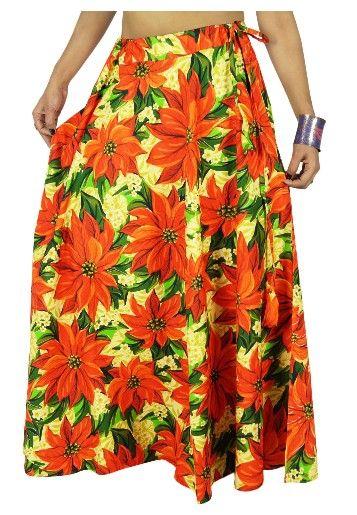 Dlouhá bavlněná sukně s potiskem - multicolor (102 cm)