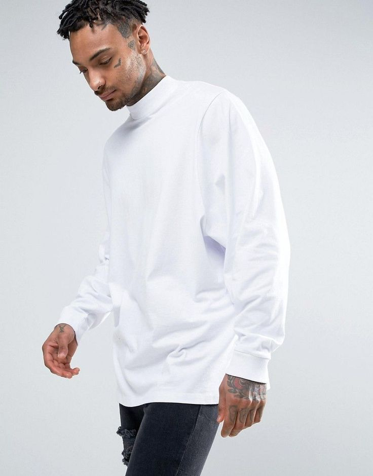 ASOS Oversized Long Sleeve T-Shirt With Extreme Batwing Sleeves In Whi