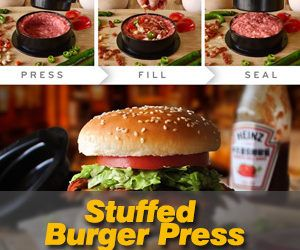 Stuffed Burger Press with 20 FREE Burger Patty Papers