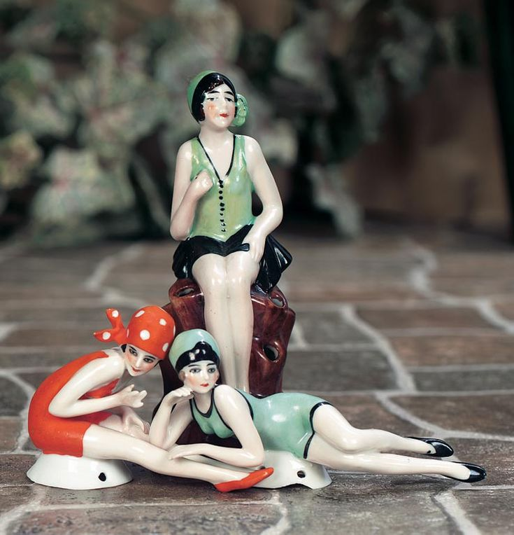 Polka Dot Bathing Beauty Sitting Figurine: 17 Best Images About Vintage Bathing Beauty Figurines On