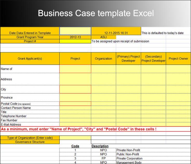 25 melhores ideias de Business case template no Pinterest – Simple Business Case Template